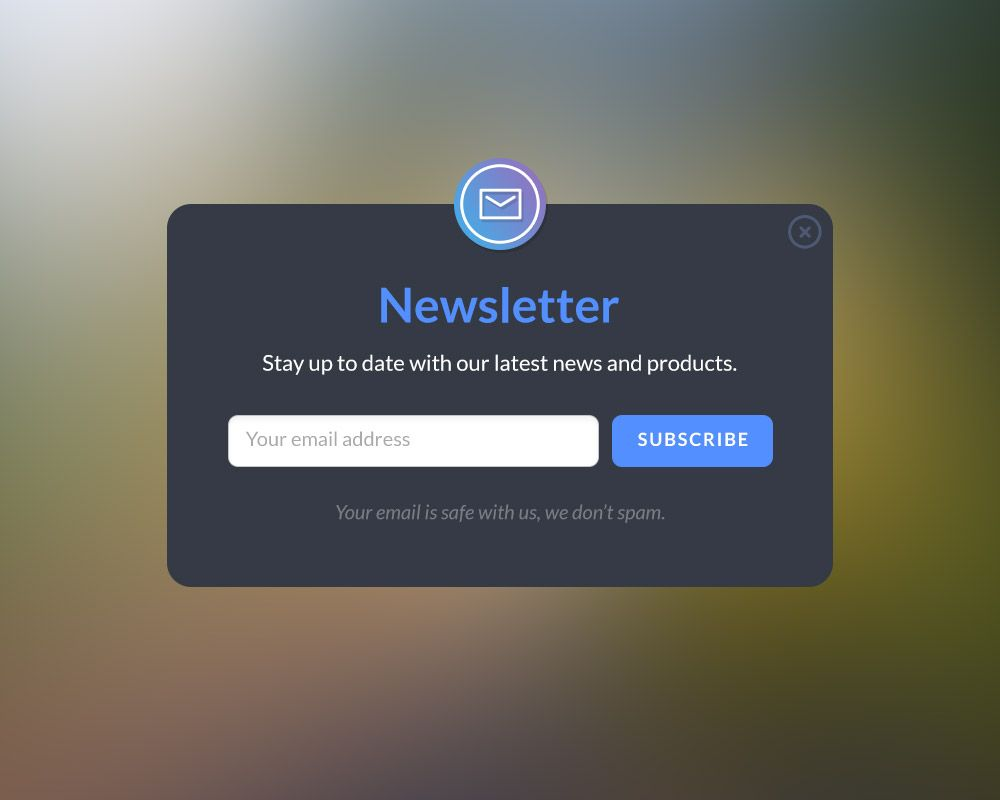 P Download Newsletter Form Popup Design Free Psd Here S A