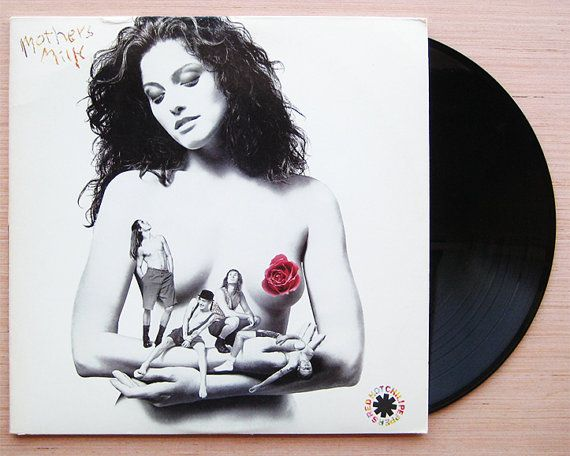 "Red Hot Chili Peppers ""Mother's Milk"" Vinyl Record LP. Original 1989 EMI Release."
