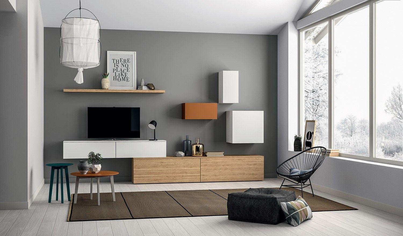 Living Et Meuble Tv Composable Au Design Contemporain Porto Venere Meuble Rangement Salon Meuble Mural Salon Mobilier De Salon