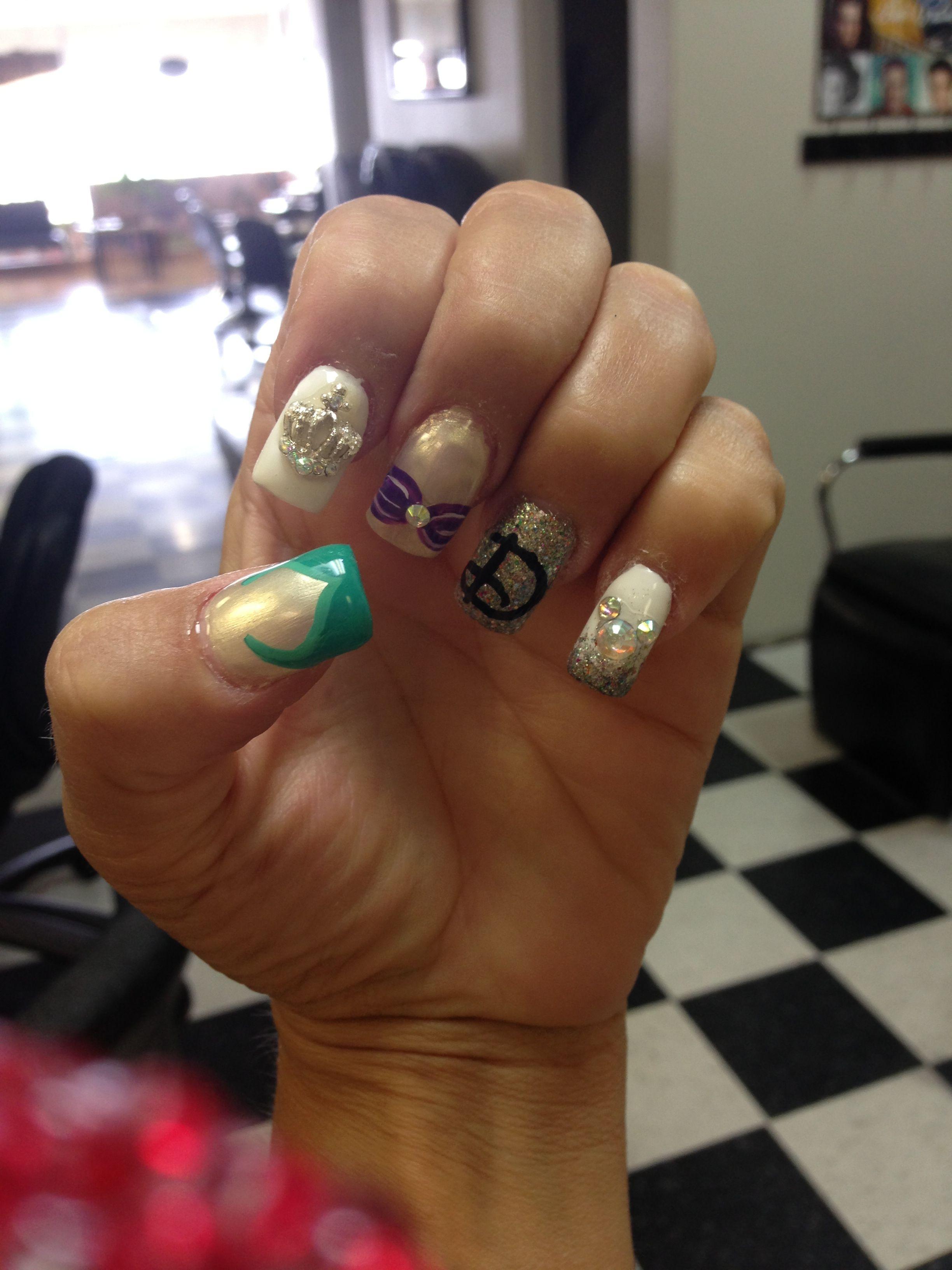Disney Ariel nails   Nails, Makeup nails, Disney ariel
