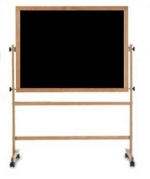 This Black Free Standing Chalkboard Sits On A Wooden Stand With A Full Length Accessory Tray The Board Rotates And Chalkboard Stand Wood Easel Diy Whiteboard