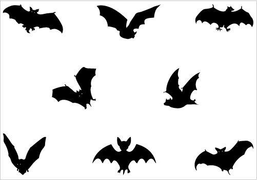 Bat Silhouette Vector Pack Bat Silhouette Silhouette Vector Animal Silhouette