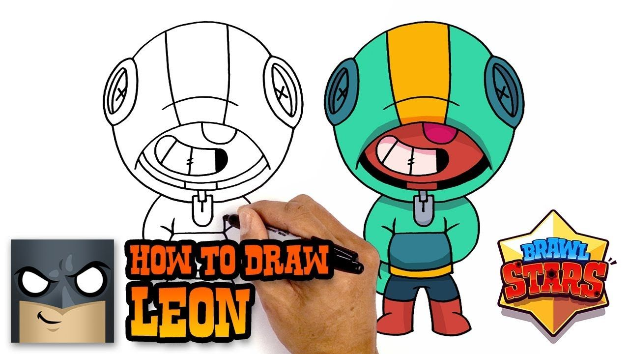 How To Draw Leon Brawl Stars Awesome Step By Step Tutorial
