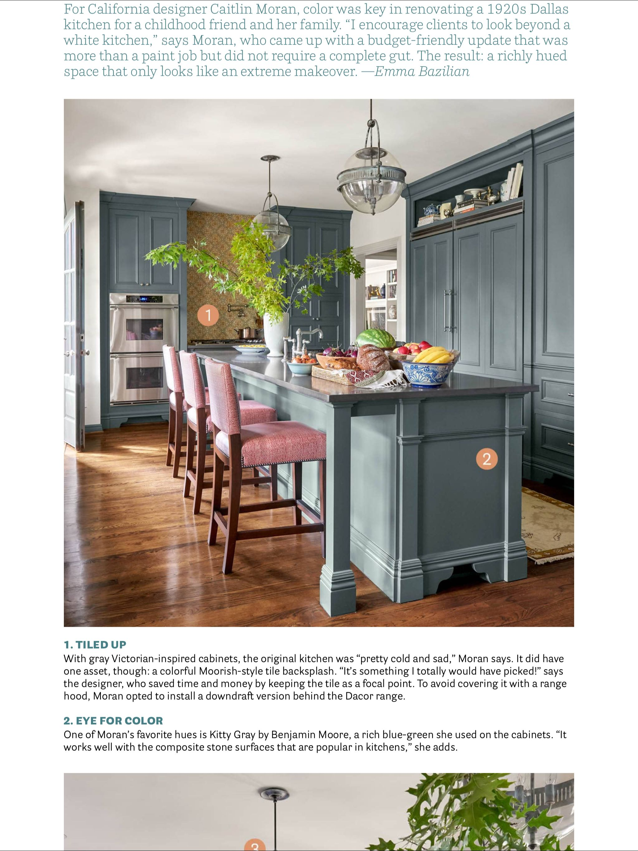 Kitchen Of The Month Caitlin Moran From House Beautiful March
