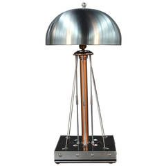 """Spectacular """"Heavenly Body"""" Mixed Metals Table Lamp"""