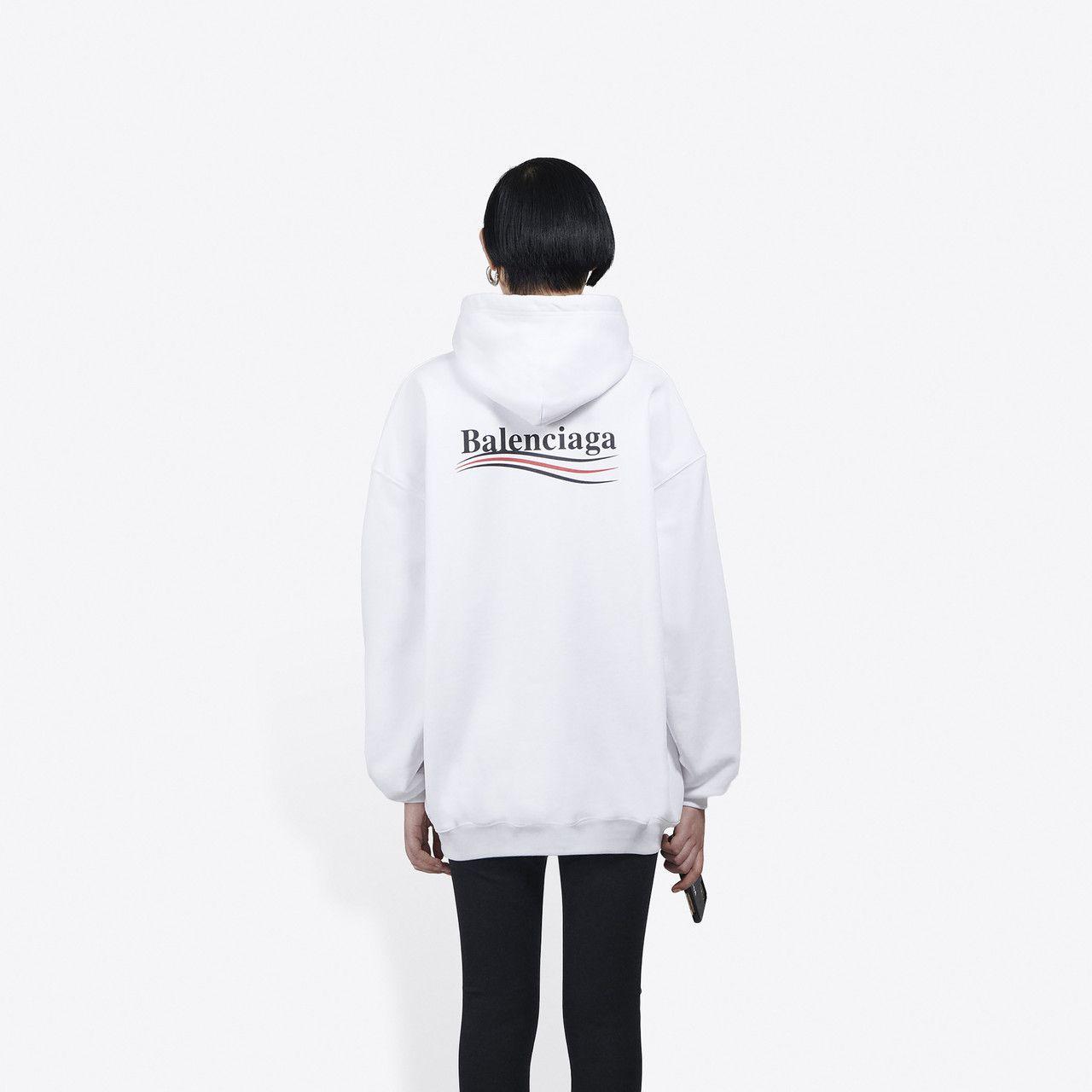 Women S Political Campaign Hoodie In White Balenciaga T Shirt Sweatshirt Shirt Hoodies [ 1280 x 1280 Pixel ]