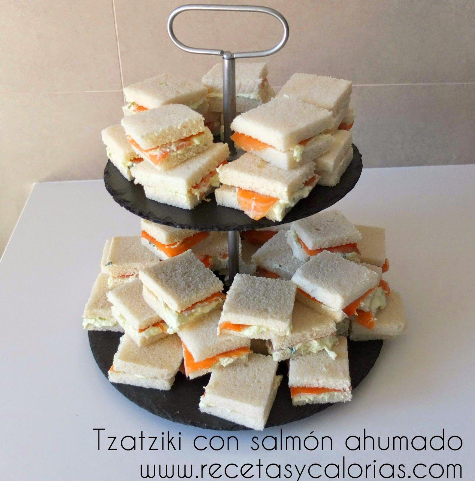 Tzatziki con salm n ahumado comidas saludables - Aperitivos de salmon ahumado ...