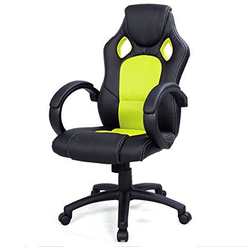 awesome green office chair. high back race car style bucket seat office desk chair gaming green be sure awesome