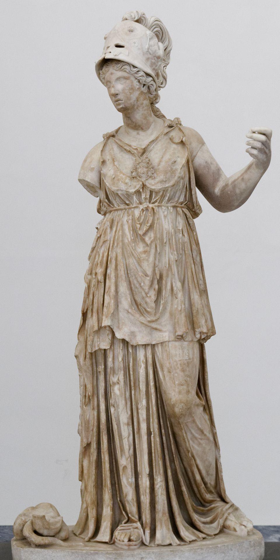Statue Of Minerva Roman Artwork Of The Imperial Era 2nd
