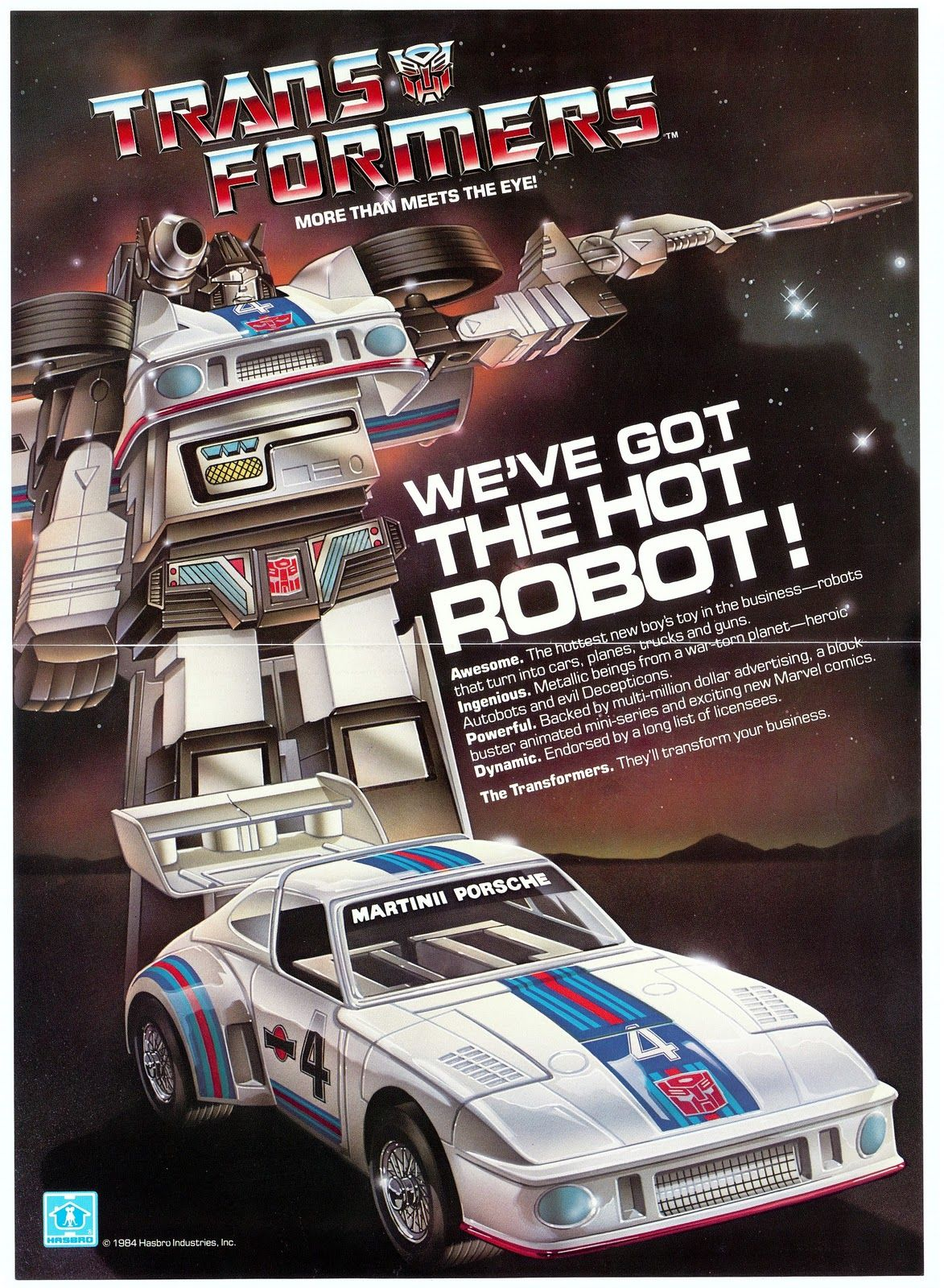 "Transformers ""We've Got The Hot Robot!"" Hasbro"