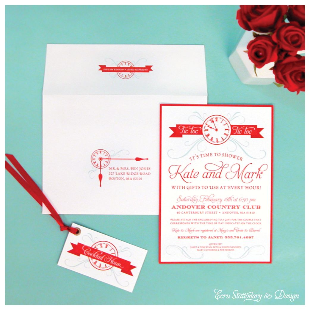 Around The Clock Bridal Shower Invitation Choice Image - Invitation ...