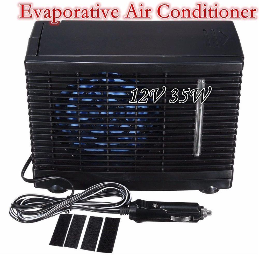 12V PORTABLE EVAPORATIVE FAN AIR CONDITIONER UNIT COOLER