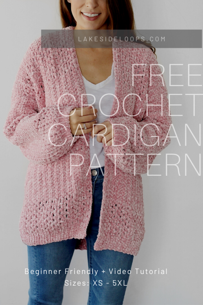 Photo of Delaney Velvet Crochet Cardigan – FREE Pattern