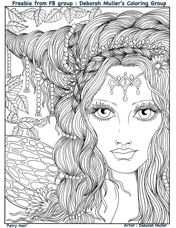 Digital Book Fairy Hair Digi Coloring Book Fairies Etsy Fairy Coloring Pages Mermaid Coloring Pages Coloring Pages