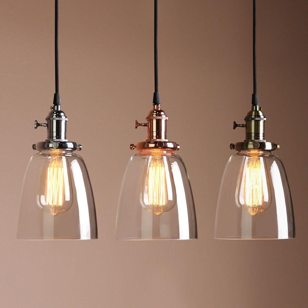 Retro Antique Copper Cafe Bar Metal Pendant Lamp Glass Cone Shade Light Ebay Metal Pendant Lamps Diy Lamp Shade Vintage Pendant Lighting
