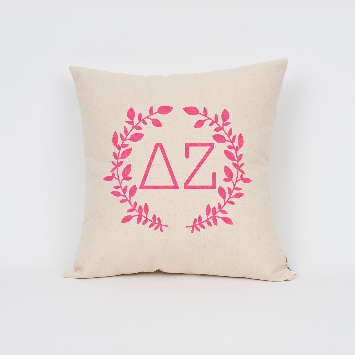 Delta Zeta Wreath Pillow // Choose Your Ink Color // Greek Letter ...