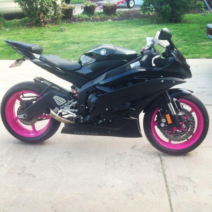 Pink motorcycle, Yamaha bikes