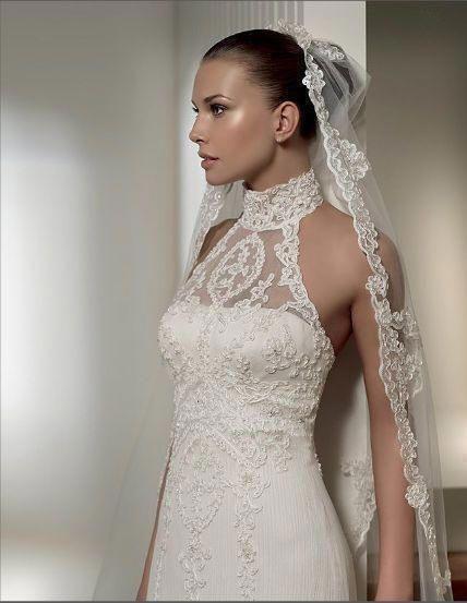 Perfect lace wedding gown lace wedding gown mermaid wedding dress halter neck wedding dress