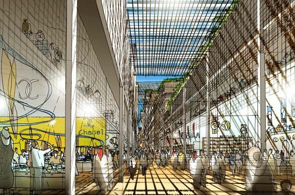 Aldar Central Market souk Abu Dhabi By Foster & Partners – sketch 08