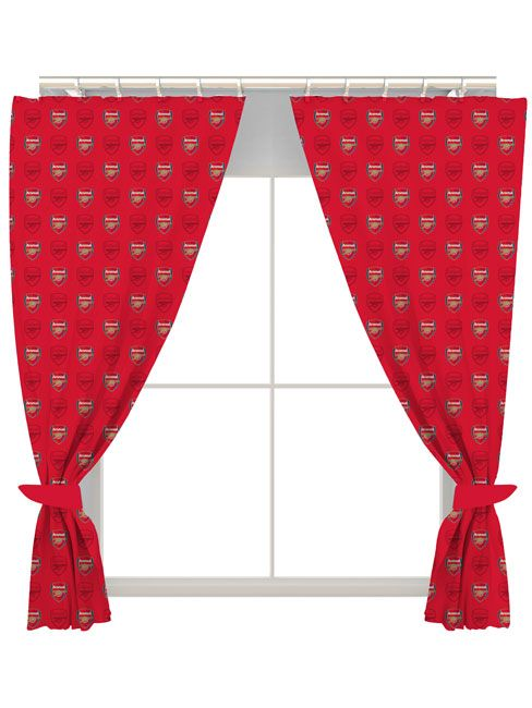 crest home design curtains. Arsenal FC Crest Curtains  and Bedrooms