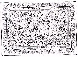 Free Folk Art Coloring Pages