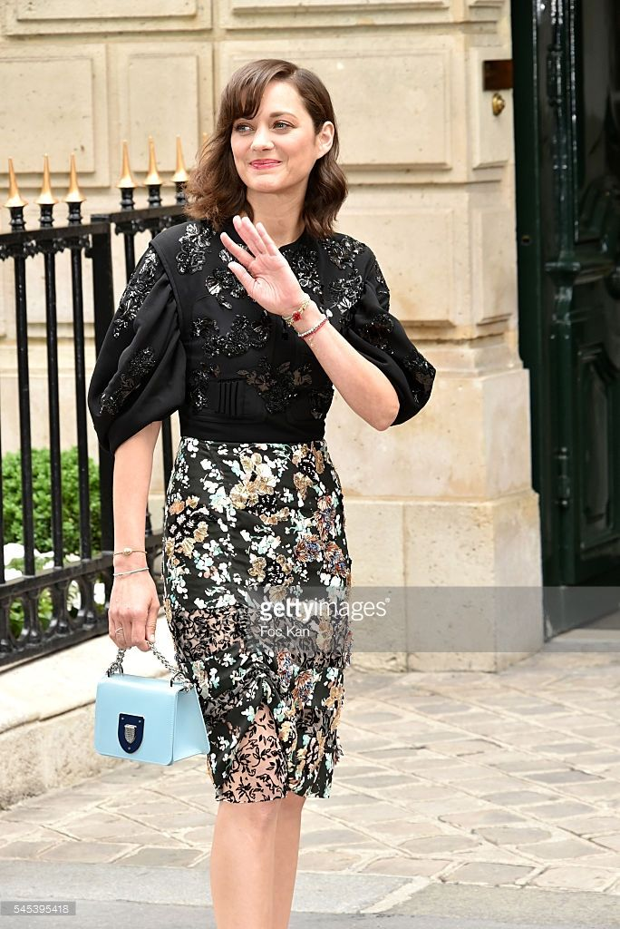 68711bb26821 Marion Cotillard Attends the Christian Dior Haute Couture Fall Winter 2016- 2017 show as part of Paris Fashion Week on July 4