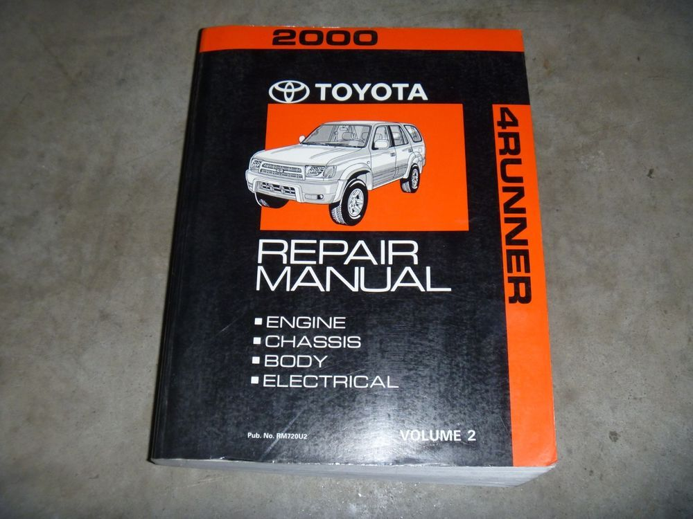 2000 Toyota 4runner Suv Engine Shop Service Repair Manual Sr5 Limited 2 7l 3 4l Repair Manuals Toyota Manual