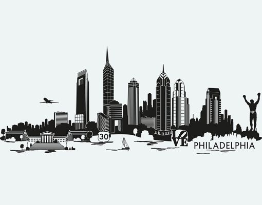 B W Phila Skyline Philadelphia Skyline Skyline Tattoo Skyline