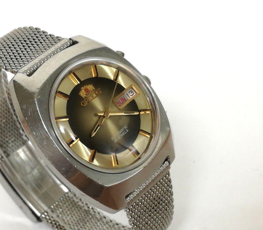 dfe6522c40ce Reloj hombre ORIENT AUTOMATIC 21 JEWELS Original Vintage años 60 s Orient  46941