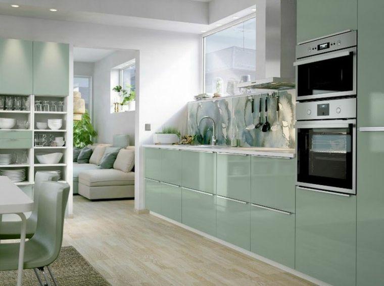 Cocinas verdes - deja que el color verde inunde tu cocina - | Verde ...