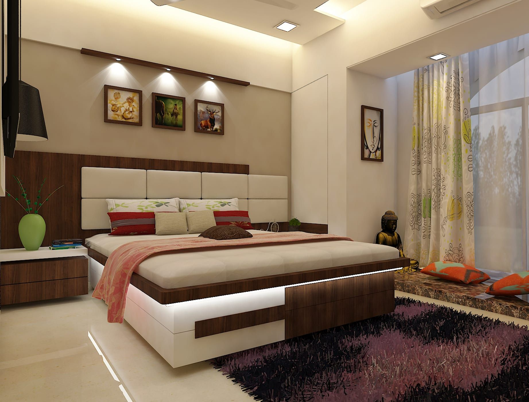 Bedroom modern style bedroom by n design studio,interior ...