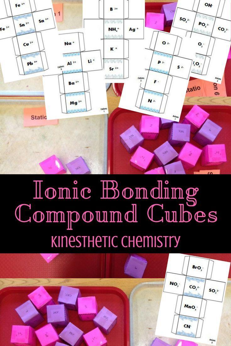 Ionic Compound Cubes Practice Activity Chemistry Classroom Teaching Chemistry Ionic Bonding [ 1102 x 735 Pixel ]