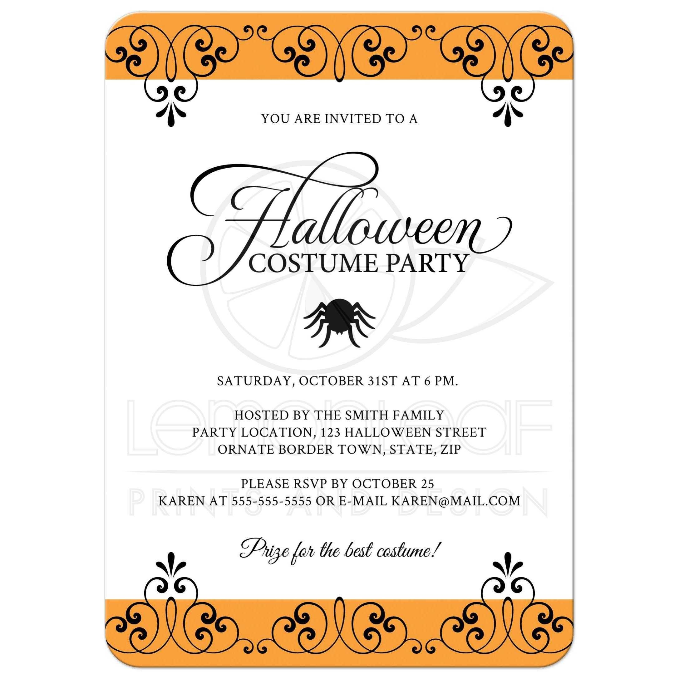 Halloween Invites Wording Kids Halloween Party Invitation Wording ...