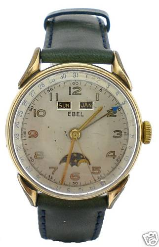 Ebel Rolled Gold Vintage Watch Moon Phase RARE | eBay