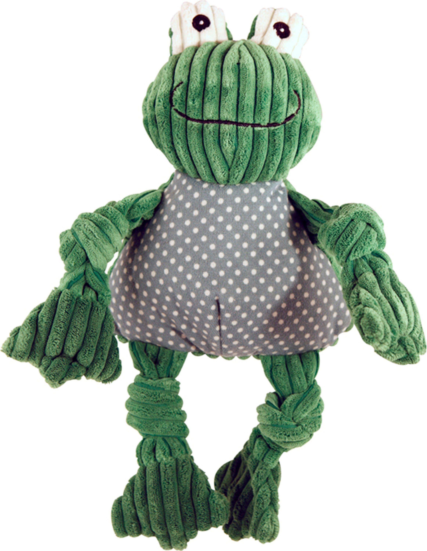 Hugglehounds Frog Knottie Plush Corduroy Large Plush Toy