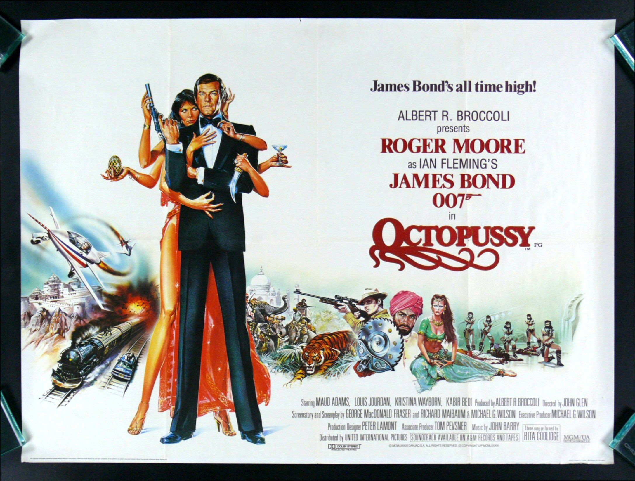 alternate uk version james bond poster for octopussy