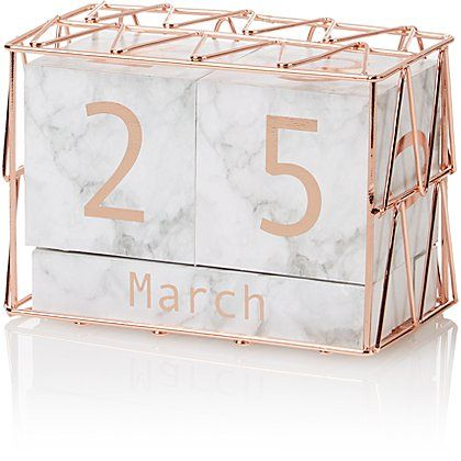 Marble and Copper-effect Calendar Block images