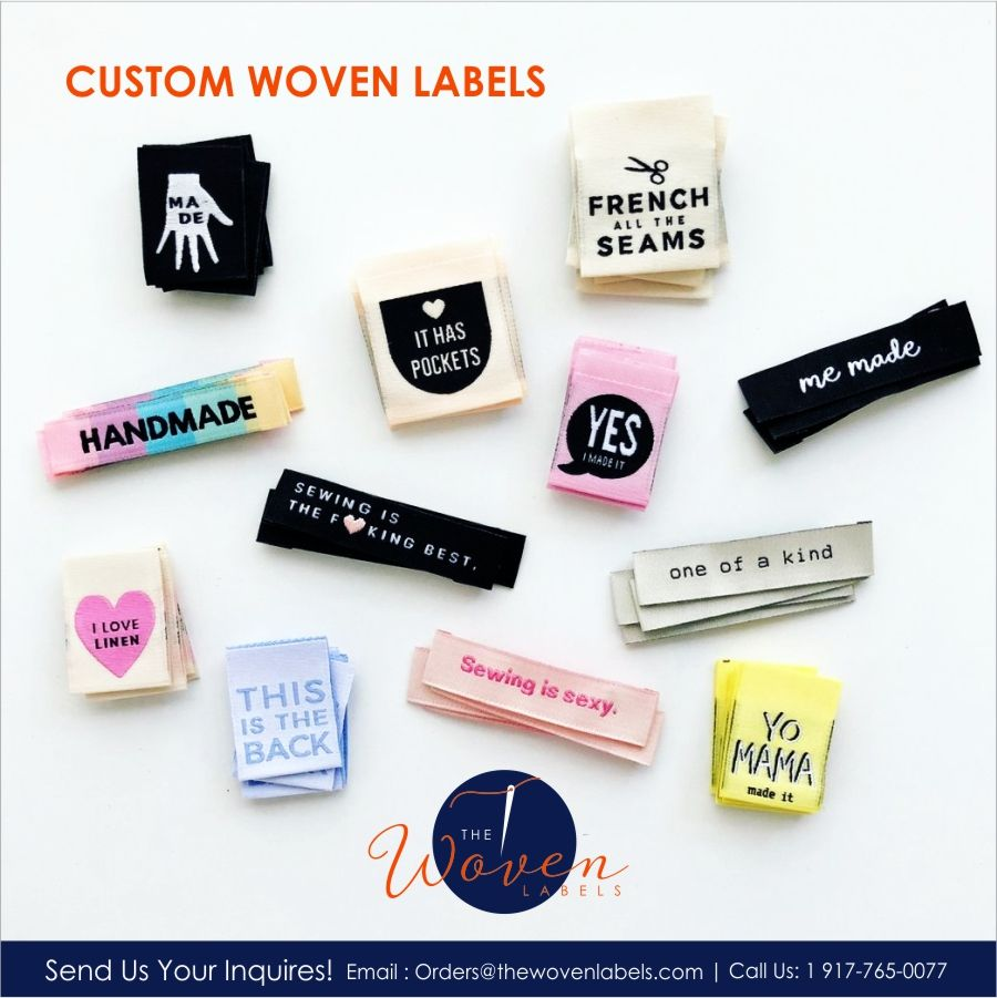 Custom Woven Labels  Custom woven labels, Sewing labels, Custom