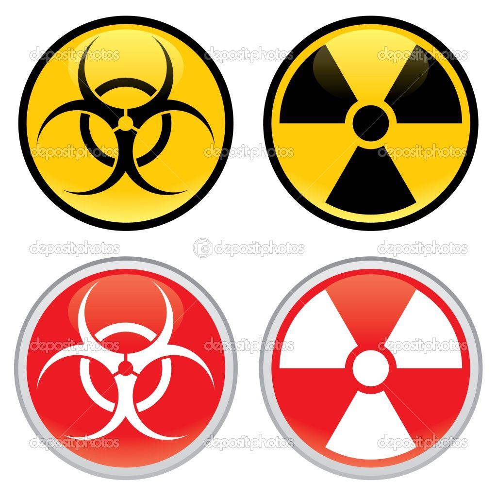 Depositphotos 2612365 Biohazard And Radioactive Warning Signs Jpg 1024 1024 Warning Signs Radioactive Biohazard