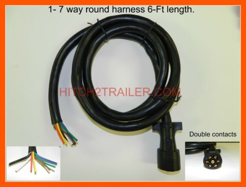 7 way trailer light plug wire harness molded end 6 ft heavy duty rv rh pinterest com au camper wiring harness pop up camper wire harness