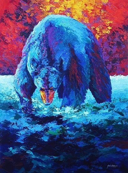 Working The Shallows Black Bear Hang Canvas Art Black Bears Art Art