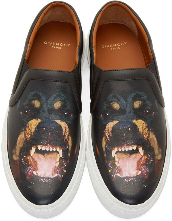 94c387dc05b Givenchy Black Rottweiler Slip-On Sneakers