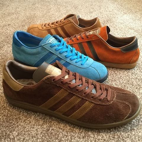 new concept caeac fae5d From the front, vintage adidas Samoa (made in France), Tahiti (made in  Japan), Trinidad (French made) and Hawaii (also made in France) - four  stunning suede ...