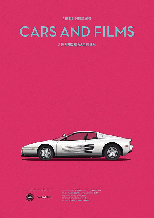 Miami Vice Car Movie Poster Art Print A3 Cars And Films Home Decor Prints Car Poster Cars Movie Miami Vice Tv Cars