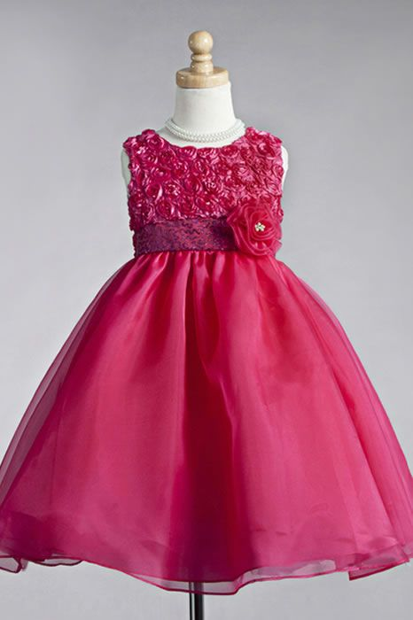adcd181176c5 Crayon Kids 917 Flower Girl Dress Affordable. Flower overload bodice ...