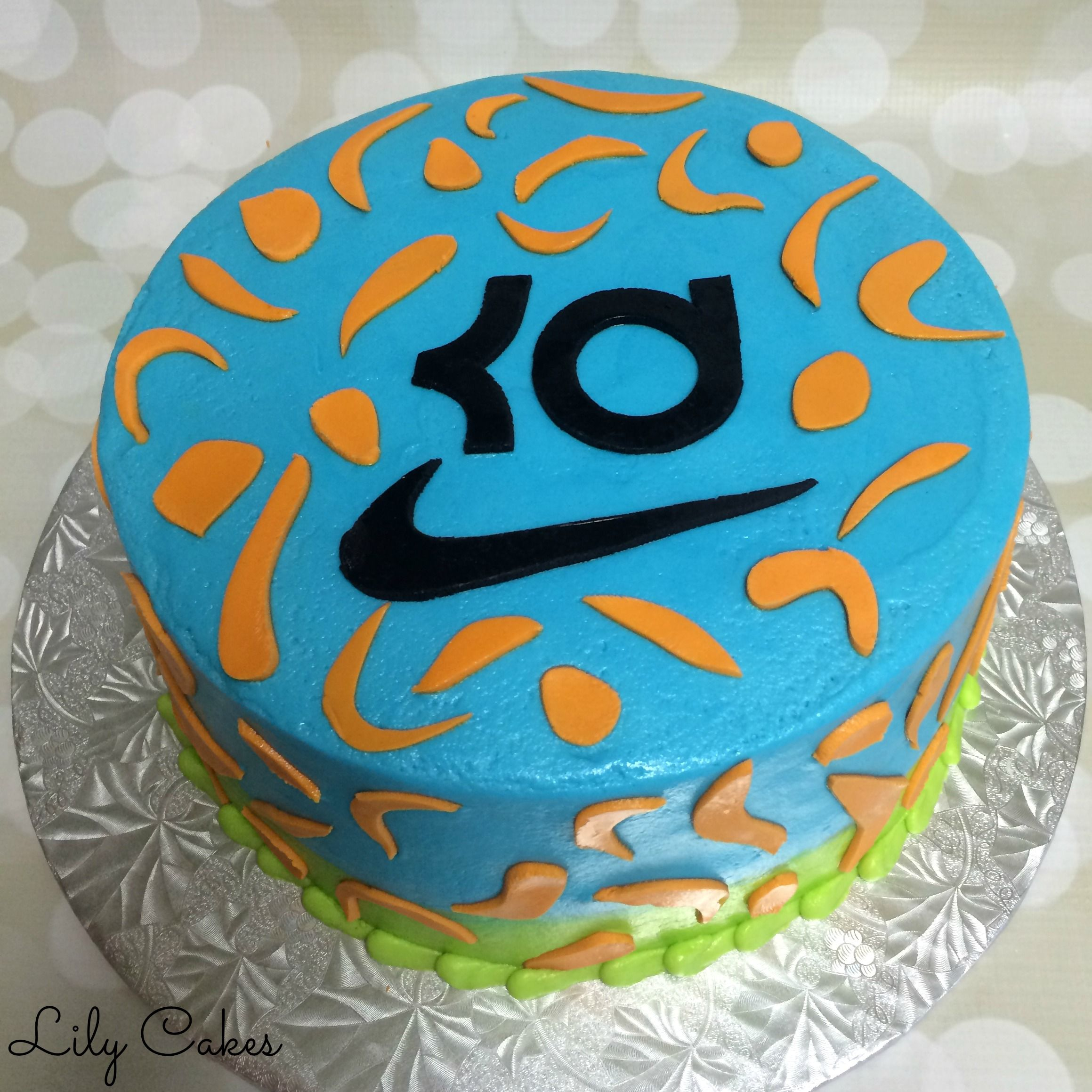 Superb Kd Themed Birthday Cake Kevin Durant Nike With Images Nike Birthday Cards Printable Benkemecafe Filternl