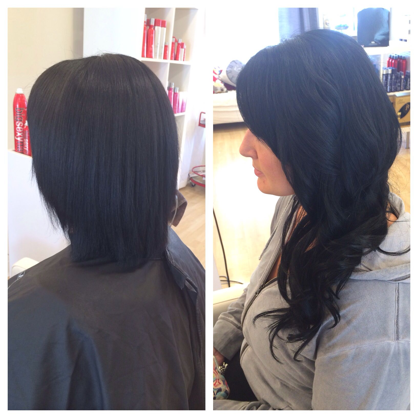 Short hair to long hair using babe tape in hair extensions by short hair to long hair using babe tape in hair extensions by ashley from melanie knapp pmusecretfo Image collections