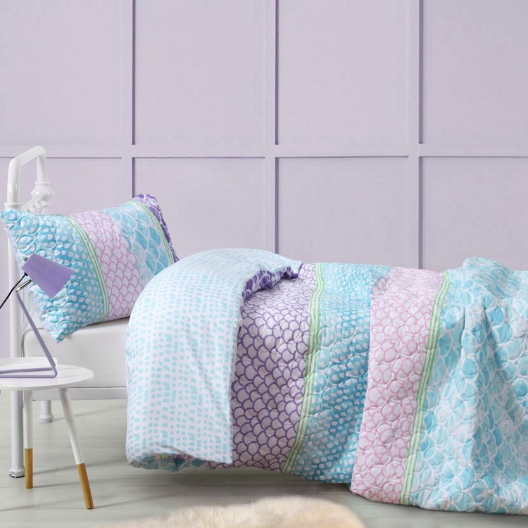 Koo Kids Scales Quilt Cover Set Multicoloured Single Quilt Cover Sets Quilt Cover Mermaid Themed Bedroom