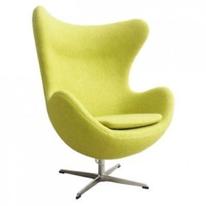 Arne Jacobsen Style Egg Chair In Mustard Wool Special Offer 单