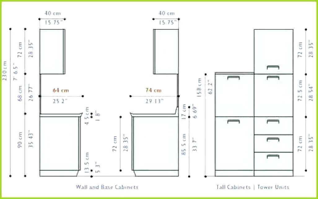 Height For Upper Kitchen Cabinets